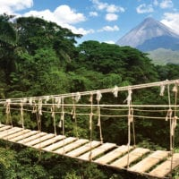 Hanging Bridges in Arenal Volcano Costa Rica Central America Contours Travel