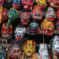 Colourful face masks in chichicastenango market Guatemala Contours Travel