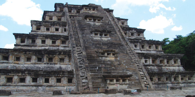 Pyramid in Tajin, Veracruz Mexico
