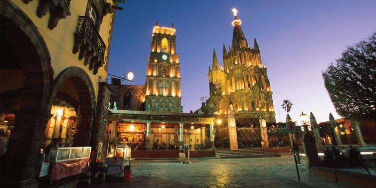 San Miguel de Allende at night, Mexico