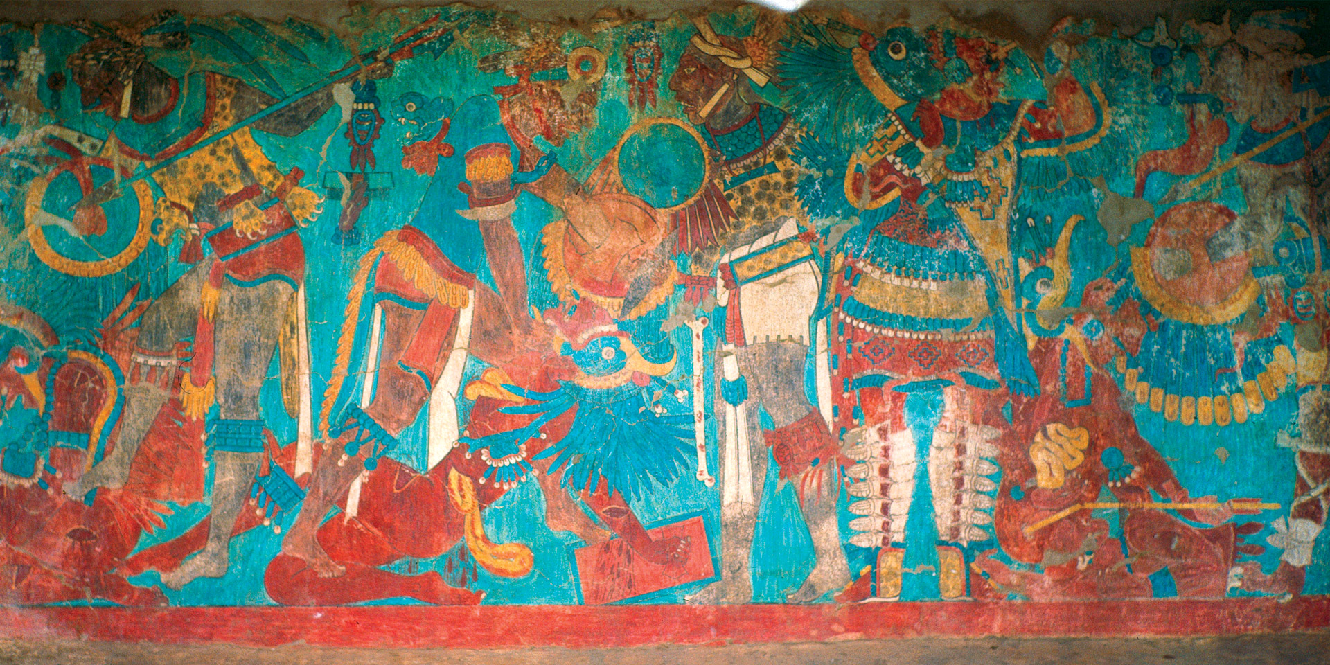Mexico Tlaxcala Cacaxtla Mural Wikicommons Contours Travel