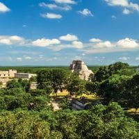Mexico Uxmal ruins Contours Travel
