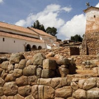 Church in Chinchero- the Sacred Valley of the Incas Peru