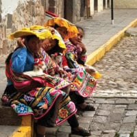 Ladies in the streets of Cuzco Peru Contours Travel