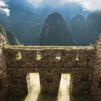 View from Machu Picchu citadel Peru Contours Travel