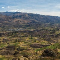 Peru Colca Canyon Contours Travel