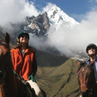 Peru Mountain Lodges Salkantay horseback riding Contours Travel